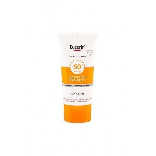 Eucerin Sun Sensitive Protect Sun Creme SPF50+ preparat samoopalający do twarzy 50 ml unisex (4005800125560)