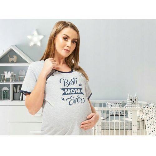 Koszula nocna ciążowa i do karmienia na napy Best Mom - szara, kolor szary