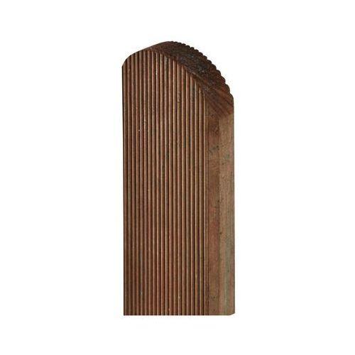 Sobex Sztacheta drewniana 120 x 9 x 2 cm ryflowana brązowa
