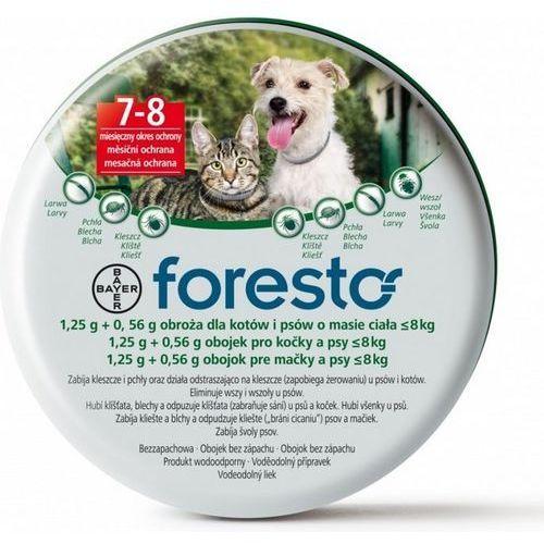 Bayer Foresto Obroża dla psów i kotów o masie ciała poniżej 8kg długość 38 cm. ze sklepu Vetlandia.pl