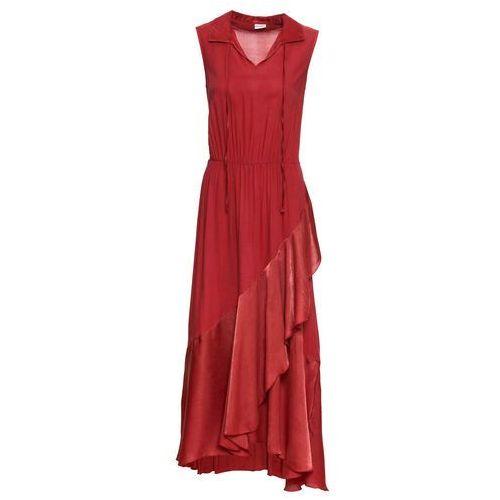738cbd8963 Sukienka z satynowymi wstawkami bonprix czerwony
