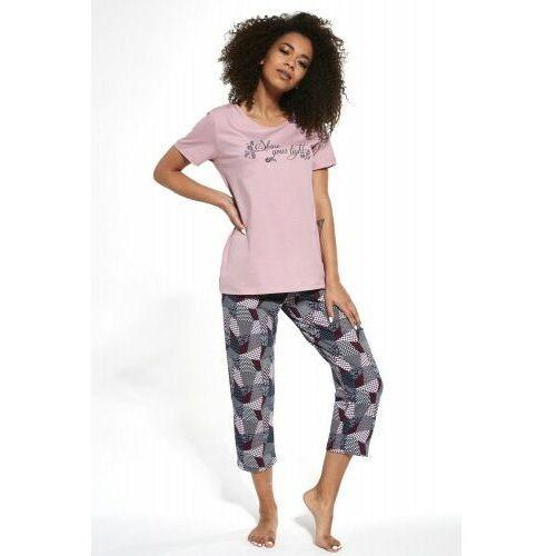 Bawełniana piżama damska Cornette 393/253 Shine 2 różowa