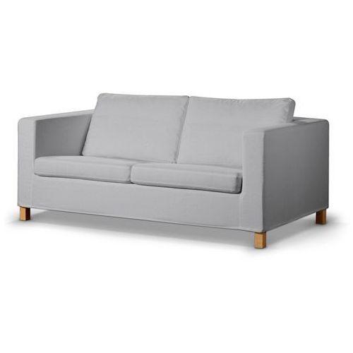 pokrowiec na sofę karlanda rozkładaną, krótki, jasnobeżowy z białą nitką, sofa karlanda rozkładana, living marki Dekoria