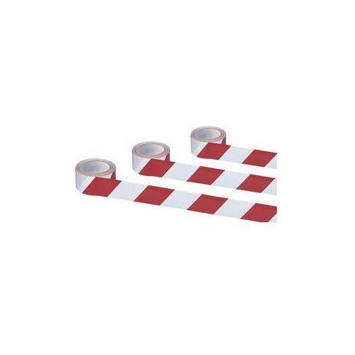 Moravia Samoprzylepna taśma ostrzegawcza i znakująca,kolor czerwony / biały