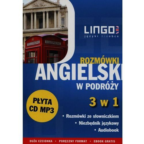 Angielski w podróży Rozmówki 3 w 1 + CD - Wysyłka od 3,99 (2016)