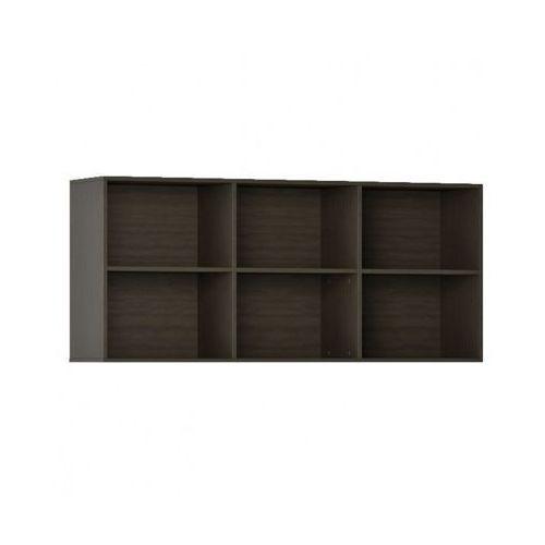 Biblioteka INTEGRO s półkami, wyższa, 835 x 1750 x 400 mm, 6 półek, wenge