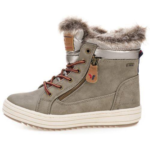 77e062bbde693 Tom Tailor buty za kostkę damskie 36 szary (4058219532122) 350,00 zł  żeńskie buty za kostkę firmy Tom Tailor z ozdobnym futerkiem.