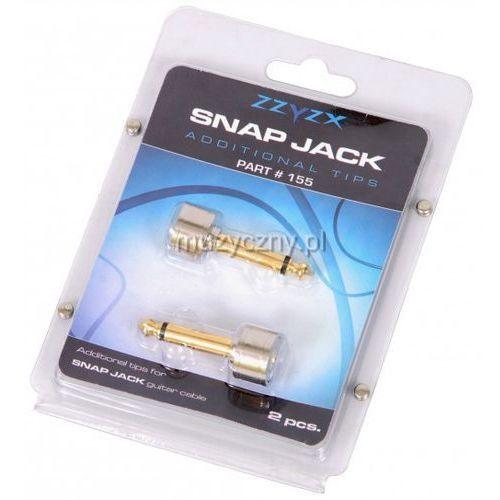 snap jack - dodatkowe końcówki do kabla snap jack (2 x jack prosty) marki Zzyzx