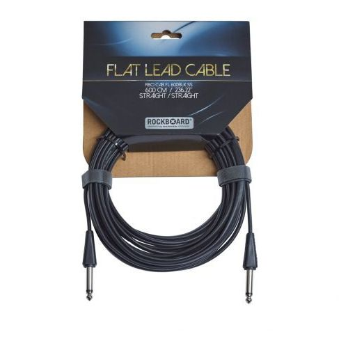 Rockboard flat kabel instrumentalny, black, 600 cm, straight/straight