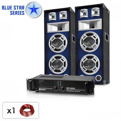 "Electronic-Star Zestaw PA z serii Blue Star ""Bass-boom"" 1600 wat (4260275625858)"