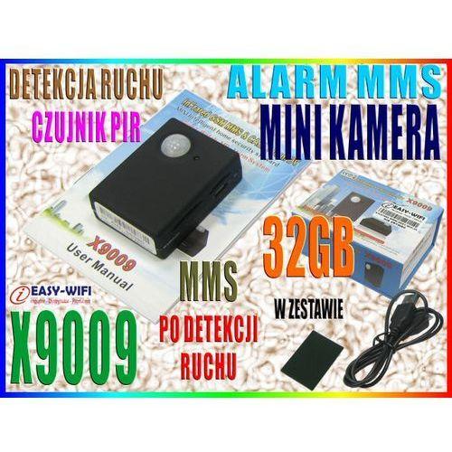 X9009 KAMERA ALARM MMS DETEKCJA RUCHU PIR PODSŁUCH CALLBACK + 32GB (kamera monitoringowa)