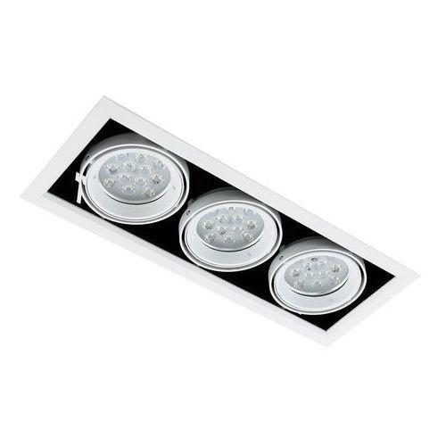 Spot LAMPA sufitowa VERNELLE TG0004-3 Italux metalowa OPRAWA LED 36W prostokątny PLAFON biały, TG0004-3