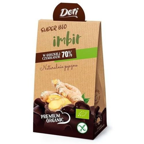 Doti Imbir w czekoladzie gorzkiej bezglutenowy bio 50 g –