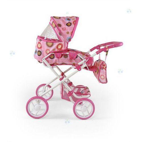 Wózek dla lalek Paulina różowo-brązowy - oferta [05dbdc47d38f1585]