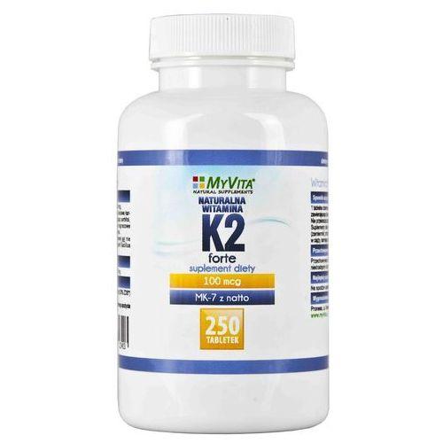 Tabletki Witamina K2 MK-7 K2 MK7 100mcg z natto K2MK7 250 tabletek MyVita