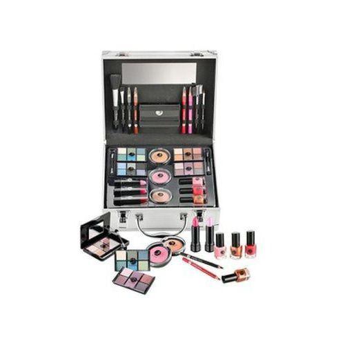 2K All About Beauty Train Case zestaw Complete Makeup Palette dla kobiet (4250979340072)