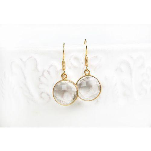 Kolczyki z kryształem w srebrze pozłacanym Cryst, produkt marki Lili in the Garden
