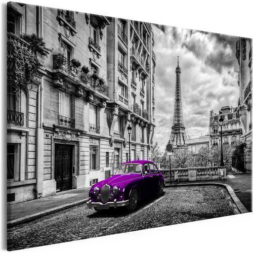 Artgeist Obraz - auto w paryżu (1-częściowy) fioletowy szeroki