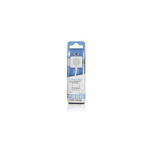 Kabel do przesyłu danych, wtyczka USB 2.0 na micro USB /mini USB /iPhone4,biały (kabel transmisyjny do telefonu)