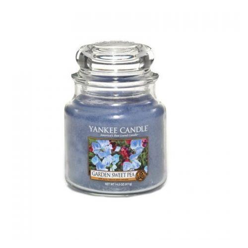 Yankee candle  świeca zapachowa - średnia - garden sweet pea