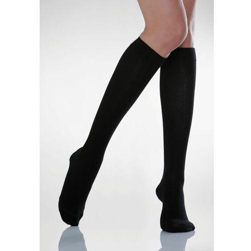 Podkolanówki uciskowe męskie cotton socks 820: kolor - czarny, rozmiar - 5 marki Relaxsan