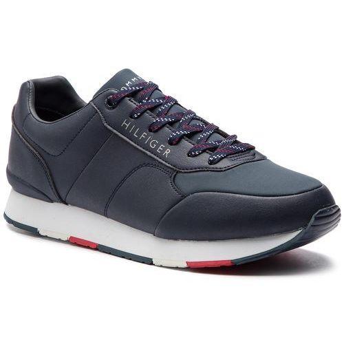 8e2eedb2c0b0b Tommy hilfiger Sneakersy - corporate leather runner fm0fm02057 midnight 403  449,00 zł Przyciągające uwagę buty firmy TOMMY HILFIGER.
