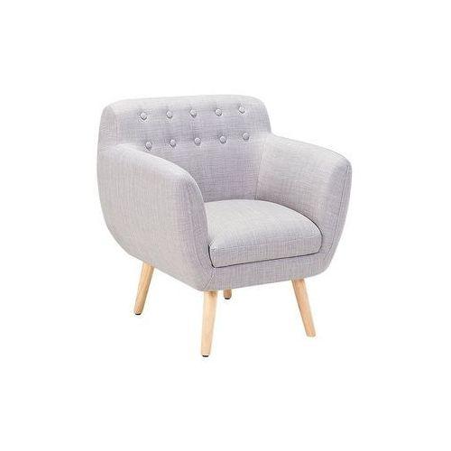 Fotel szary - fotel wypoczynkowy - do salonu - tapicerowany - melby marki Beliani