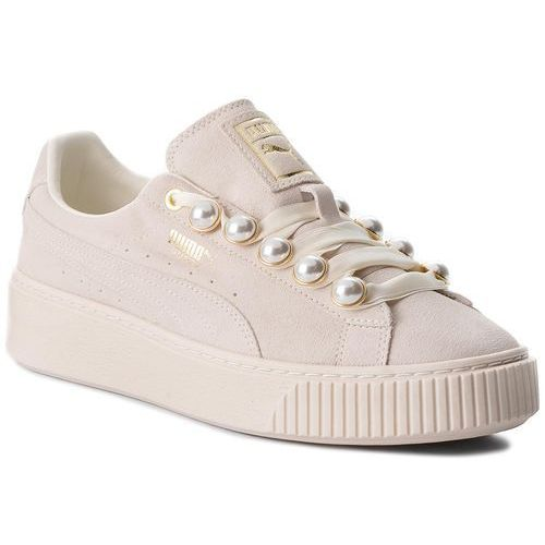Sneakersy PUMA - Suede Platform Bling Wn's 366688 02 Whisper White/Whisper White