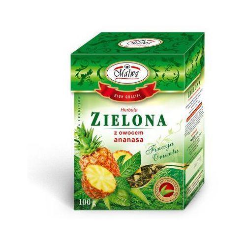 Herbata zielona z ananasem 100g marki Malwa