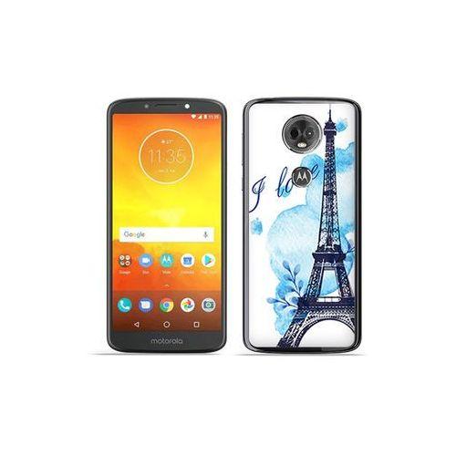 Motorola Moto E5 Plus - etui na telefon Fantastic Case - niebieska wieża eiffla