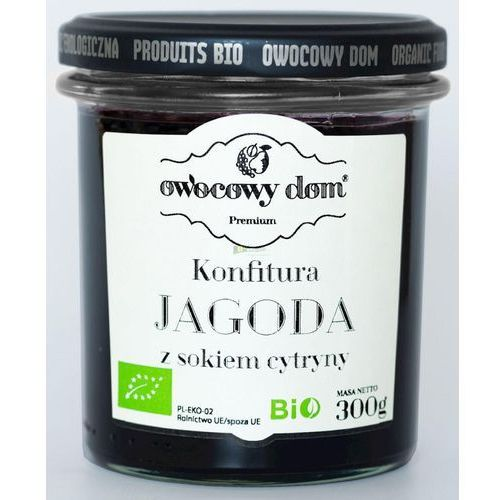Konfitura jagoda z sokiem z cytryny bio 300 g - owocowy dom marki Owocowy dom (konfitury, dżemy)