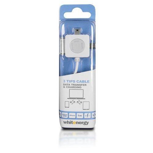 Kabel USB 2.0 AM BmicUSB iphone4/5 100cm biały - oferta (7593d6ae1f03a782)