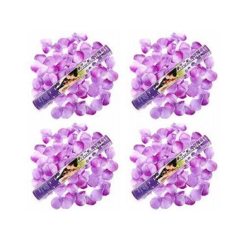 Ap Tuba strzelająca, liliowe sztuczne płatki róż, 40 cm, 4 szt. (5901157445001)