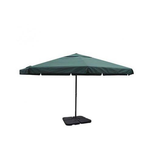 Zielony parasol ogrodowy z aluminiową ramą i przenośną podstawą, produkt marki vidaXL
