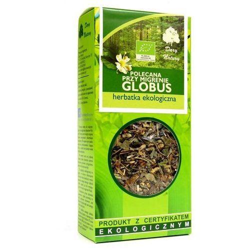 """POLECANA PRZY MIGRENIE """"GLOBUS"""" EKO 50g - Dary Natury herbata (5902741005267)"""