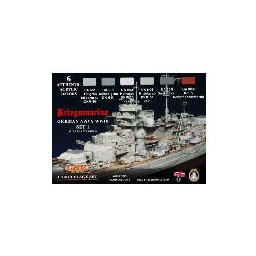 Zestaw kamuflażowych farb  CS09 GERMAN NAVY WWII SET1 Kriegsmarine, produkt marki LifeColor