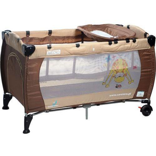 Łóżeczko turystyczne CARETERO Medio Classic brązowo-beżowy - oferta [15f74b7c2705276d]