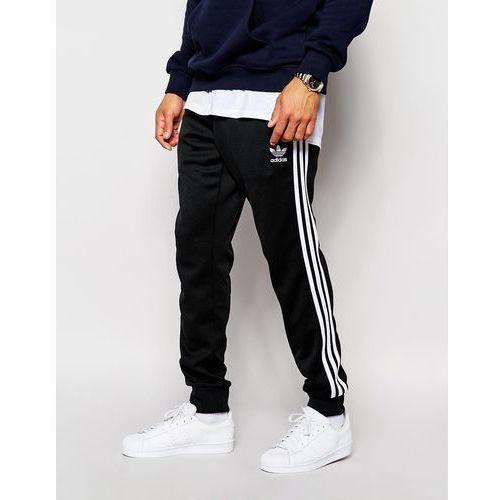 Adidas originals superstar cuffed track pants in black aj6960 - black