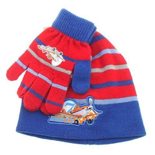 Komplet jesienno-zimowy dla dzieci: czapka i rękawiczki Planes Samoloty