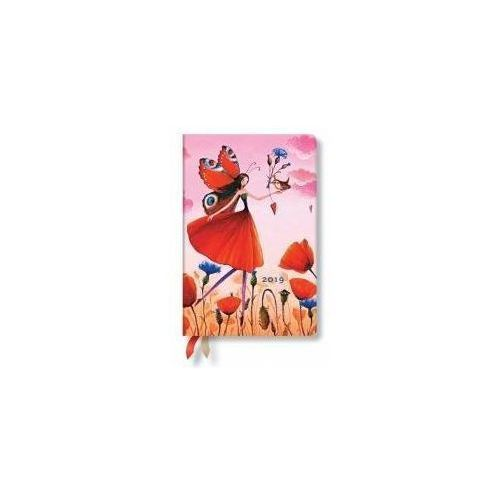 Paperblanks Kalendarz książkowy midi 2019 12m poppy field