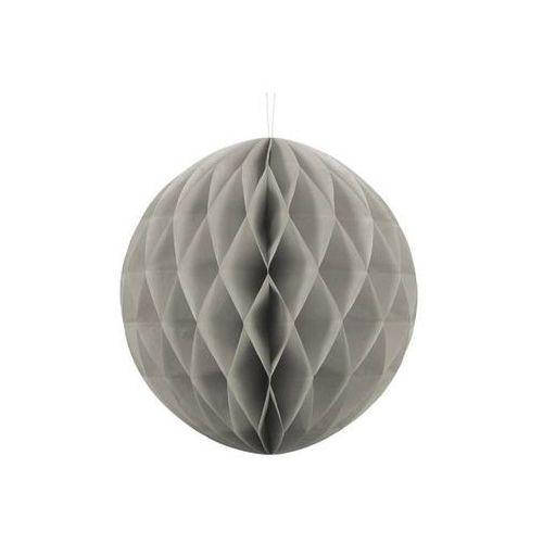 Dekoracja wisząca kula szara - 30 cm - 1 szt.