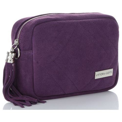 8548007f0183b Vittoria gotti Włoskie torebki skórzane listonoszka firmy wykonana z  wysokiej jakości zamszu naturalnego śliwka (kolory) 139