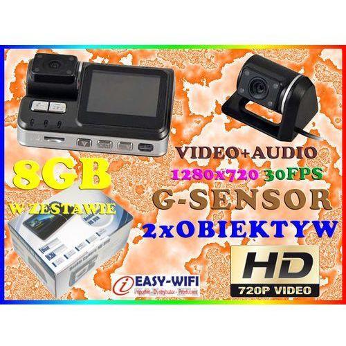 KAMERA SAMOCHODOWA HD720 DET RUCHU Z KAMERĄ COFANIA + KARTA KINGSTON 8GB, Sklep Easy-WiFi