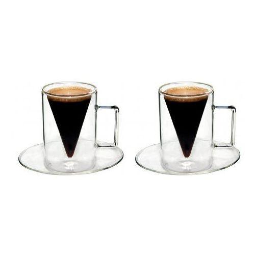 Filiżanka szklanka termiczna espresso 2x70ml, od ręki tel. 570 31 00 00 marki Feelino