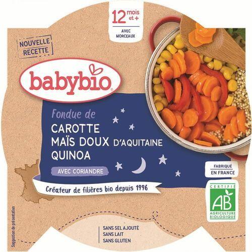 Danie na dobranoc mix warzyw z quinoa od 12 miesiąca bezglutenowe bio 230 g marki Babybio
