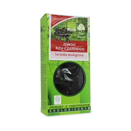 100g herbata owoc czarnego bzu liściasta bio marki Dary natury