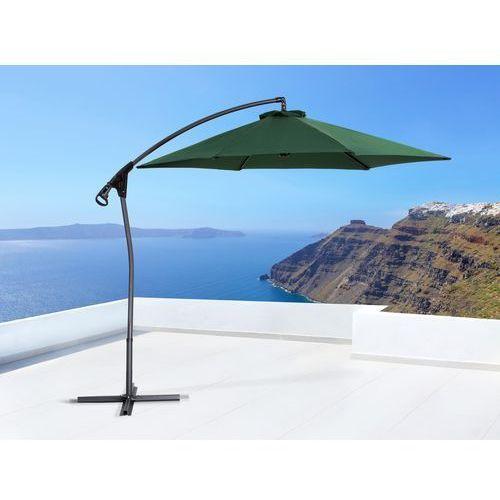 Parasol ogrodowy na wysięgniku – stojak metalowy – ø 290 cm - asti ii zielony od producenta Beliani