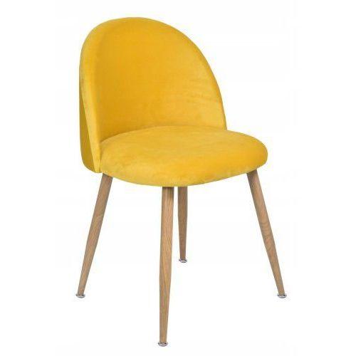 Krzeslaihokery Krzesło moon zółte