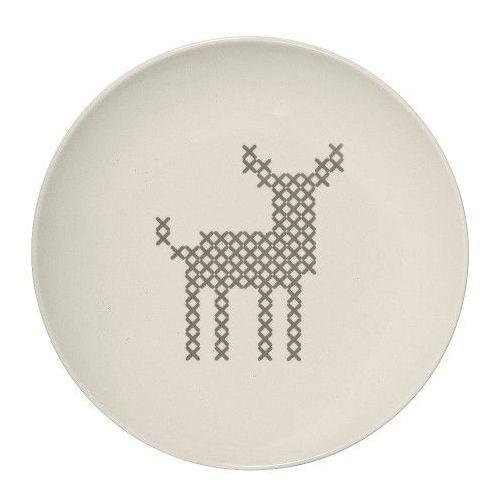 Świąteczny talerz deserowy z reniferem, Cross - Bloomingville, 21104238