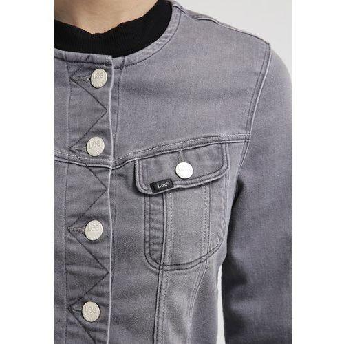 Lee COLLARLESS RIDER Kurtka jeansowa used grey (marynarka, żakiet)